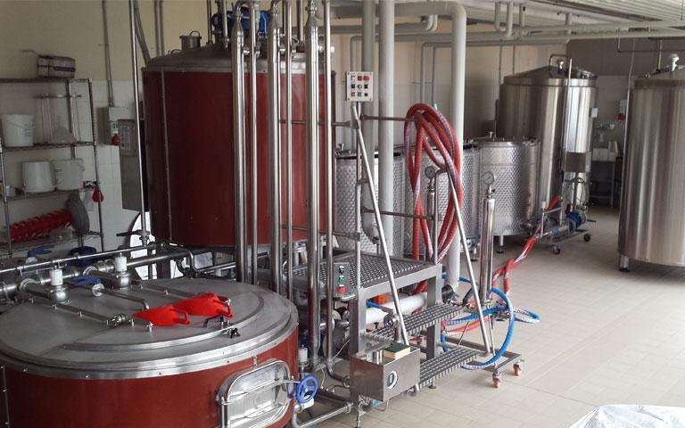 Impianto di produzione del Birrificio Civale