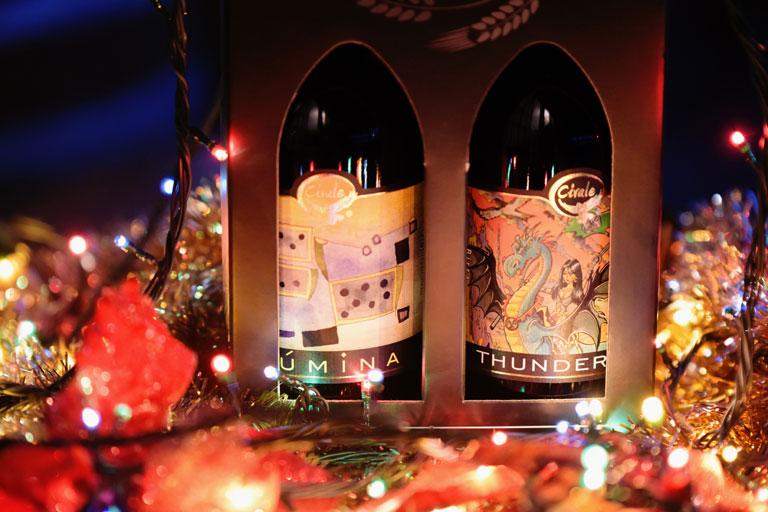 Confezioni regalo natalizie con bottiglie di birra artigianale